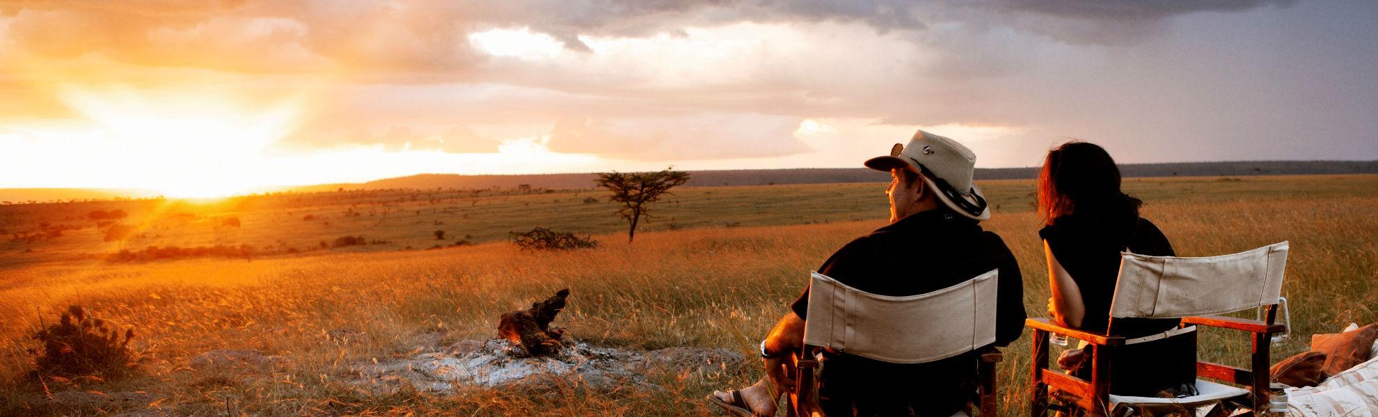 Lagerfeuer im Mara Schutzgebiet am Karen Blixen Camp