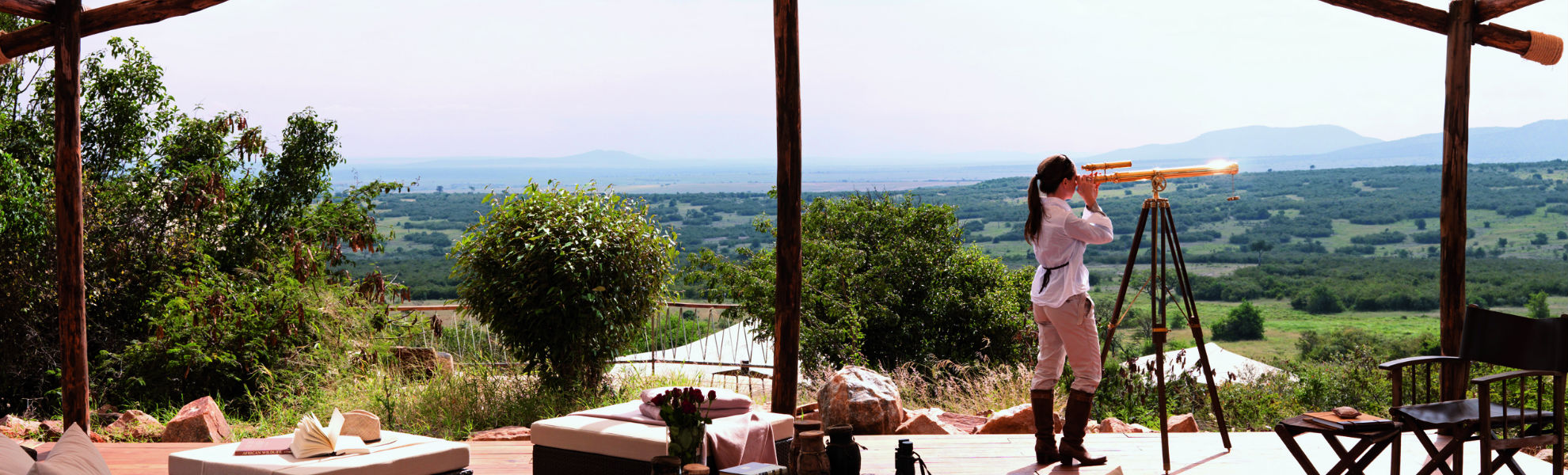 Blick vom Mara Bushtops Camp über die Savanne des Mara Schutzgebiets
