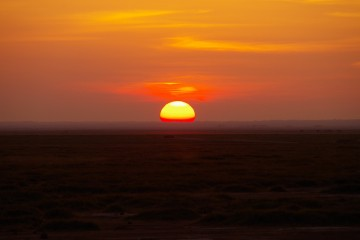 Sonnenuntergang Kenia auf Safari