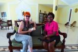Frau Marina Schmidt vom Reisekontor Schmidt zu Besuch im Emrald Flamingo Beach Resort