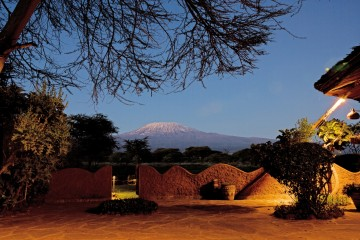 Kilimanjaro-Blick aus der Amboseli Sopa Lodge