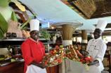 frische Meeresfrüchte am vielfältigen Buffet des Bamburi Beach Hotels