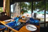 gedeckter Tisch im Restaurant des Baobab Beach Resorts
