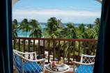 Blick vom Zimmer-Balkon zum Meer im Diani Reef Beach Resort