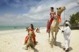 Kamel-Reiten am Strand des Diani Reef Beach Resorts