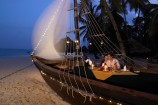 romantisches Strand-Dinner am Abend im Hotel Diani Reef Beach Resort