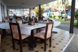 Restaurant-Terrasse im Hotel Kenya Bay Beach