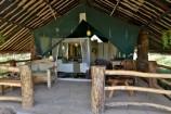 Terrasse eines Zeltes im Kibo Safari Camp