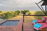Pool im eigenen Zelt im Olare Mara Kempinski Camp