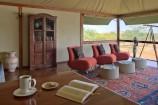 Bibliothek im Olare Mara Kempinski Camp