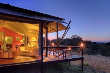 Ausblick vom Kempinski Camp in die Mara