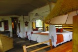 Ausstattung des Zeltes im Oloshaiki Camp