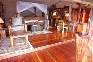 luxuriöse Ausstattung im Royal Mara Luxus Camp