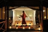 Zelt bei Nacht im Severin Safari Camp