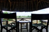 Terrasse eines Zeltes im Satato Camp