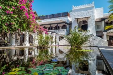 Teich im Garten des Serena Beach Resorts
