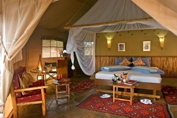 Ausstattung einer Suite im Severin Safari Camp