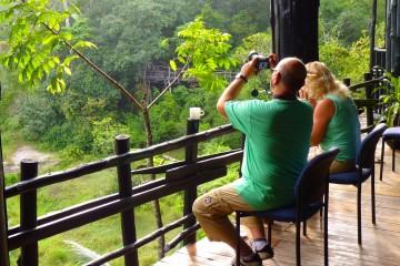 Terrasse mit Blick in die Shimba Hills