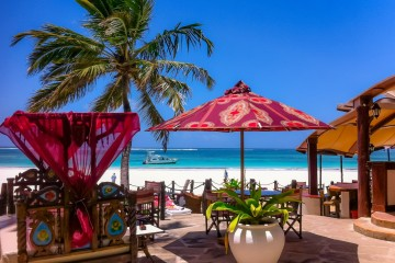 Terrasse des Hotels The Sands at Nomad am Diani Beach