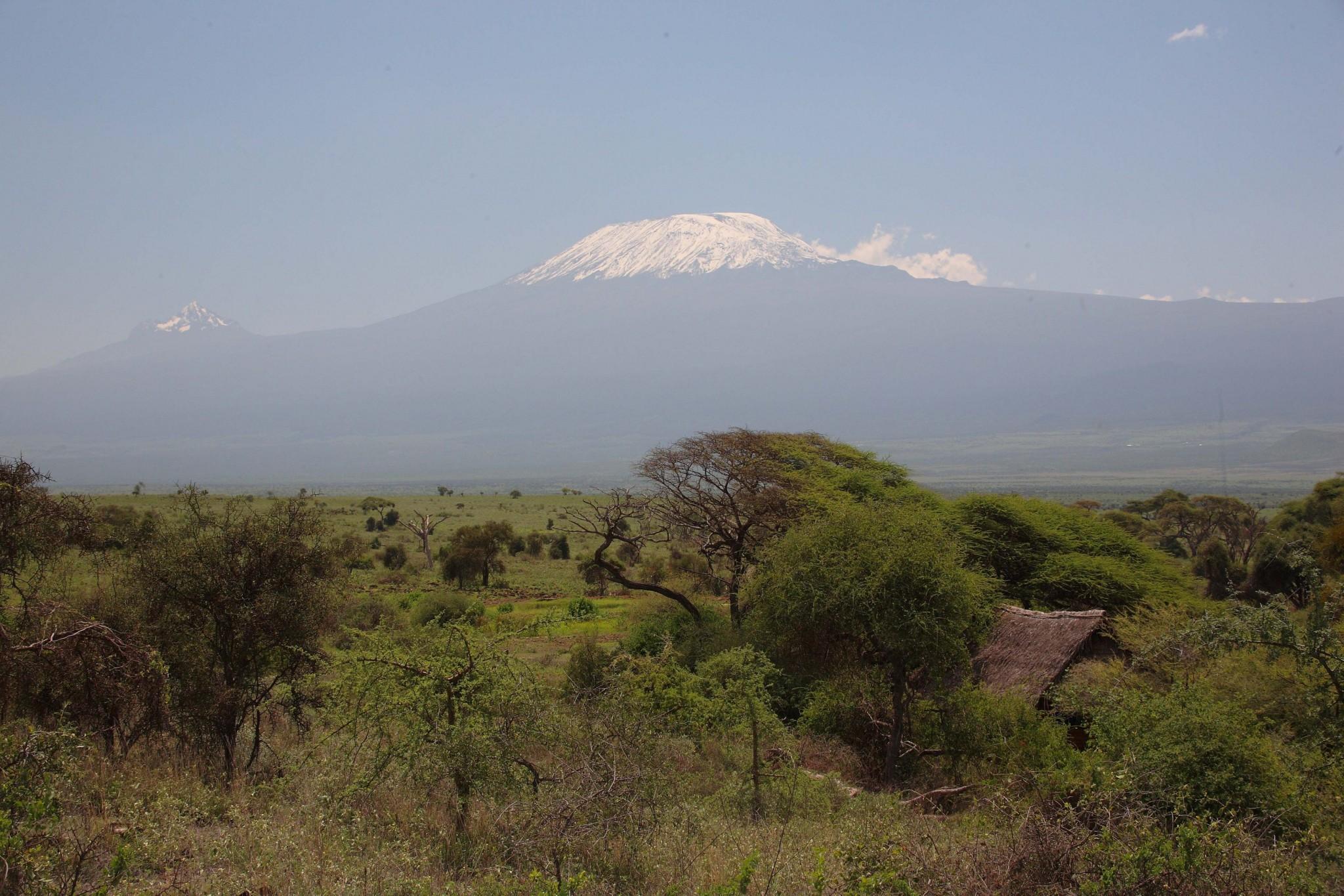 Blick zum Kilimandscharo vom Tortilis Camp