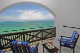 Balkon eines Meerblickzimmers im Voyager Beach Resort