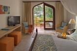 geschmackvoll und elegant eingerichtetes Superior-Zimmer mit Gartenblick