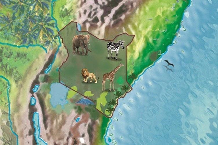 Kenia Karte Safari in Kenia Tiere Urlaub