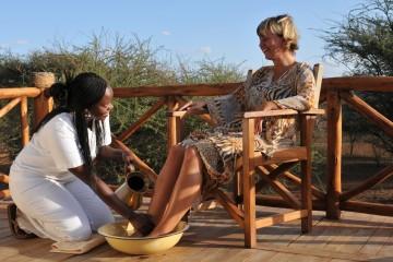 Wellnessanwendungen im Severin Safari Camp im Tsavo