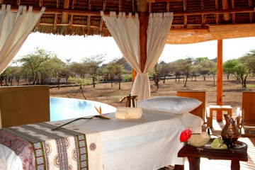 Massage-Zelt im Severin Safari Camp