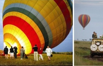 Ballonsafari in der Masai Mara in Kenia