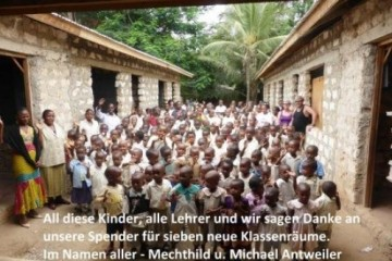 Familie Antweiler in der Patenschule