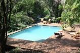 Swimmingpool im Rhino River Camp