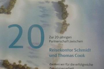 Reisekontor Schmidt wird ausgezeichnet von Thomas Cook