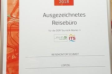 Auszeichnung DERTouristik Travel Expert 2018 Reisekontor Schmidt Keniaurlaub