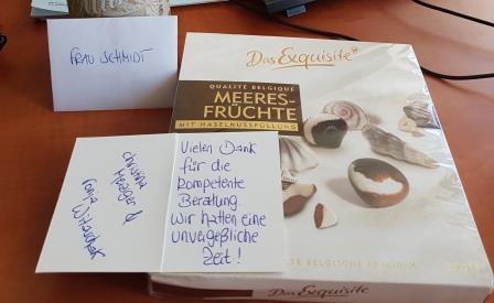 Kunden-Dankeschön an Keniaurlaub Spezialst Reisekontor Schmidt a