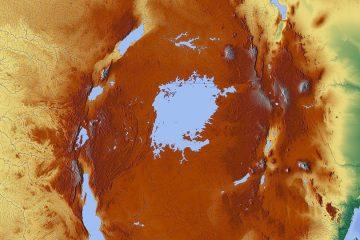 Victoriasee in Kenia Afrika - Günstiger Brennstoff aus Schwimmpflanzen