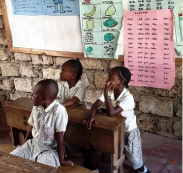 Unterricht in unserer Patenschule